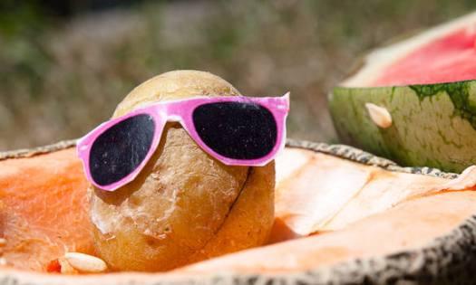 Kartoffel mit Sonnenbrille