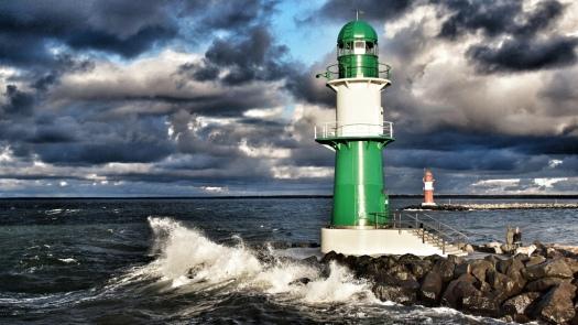 Der Leuchtturm in Warnemünde