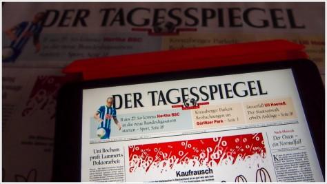 Der digitale Tagesspiegel schlägt den Analogen - Foto: h|b