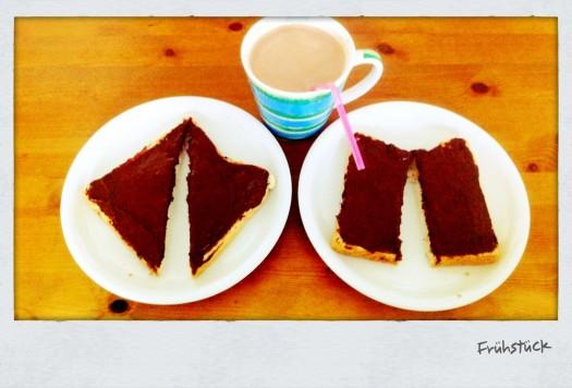 Einer mag Dreiecke, die andere mags rechteckig. Hauptsache Nutella - Foto: h|b