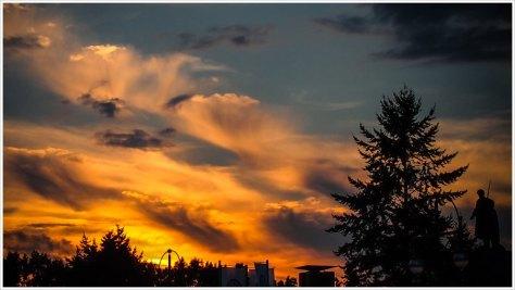 Sonnenuntergang über dem russischen Ehrenmal - Foto: h|b