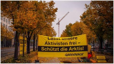 Aufruf zur Freilassung der Greenpeaceaktivisten in Russland - Foto: h|b