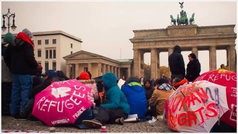 Hungerstreik gegen die Residenzpflicht für Asylbewerber - Foto: h|b