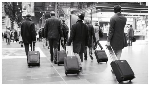 Die rollenden Koffer