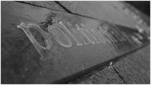 Steinplatte mit Aufschrift
