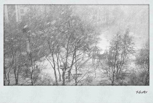 Schnee im Comeniuspark - Foto: u|b