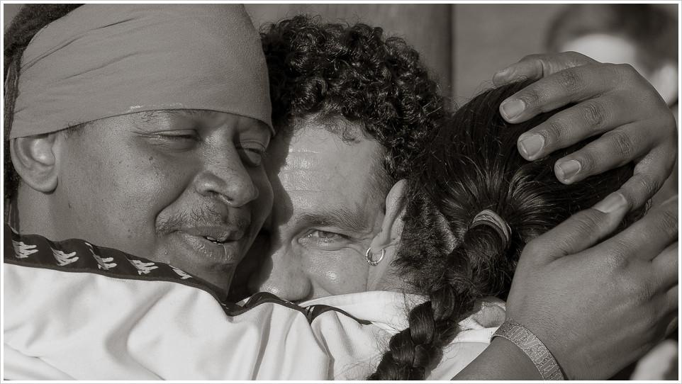 Große Gefühle am Ende der Drumsession - Foto: h b