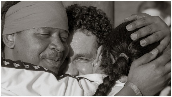 Große Gefühle am Ende der Drumsession - Foto: h|b
