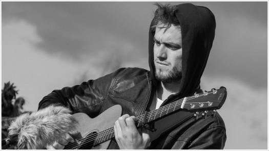 Ryan Keen, Singer/Songwriter aus UK beim Videodreh - Foto: h|b