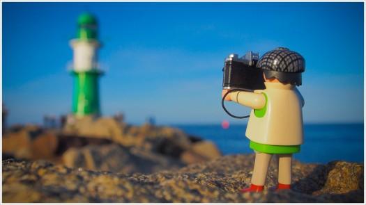 Der erste Gang gilt stets dem Leuchtturm von Warnemünde - Foto: h|b