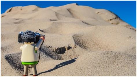 Sandberge so weit das Auge reicht - Foto: h|b