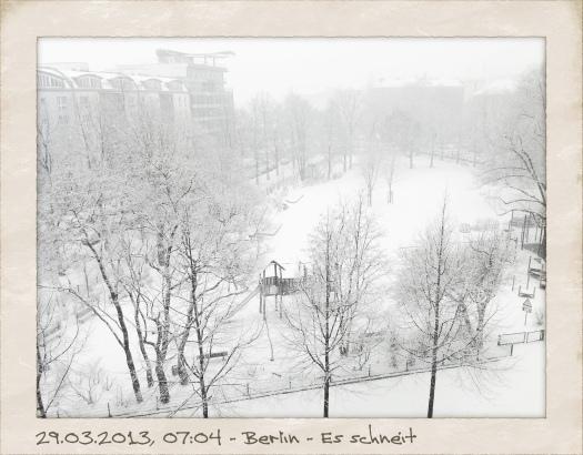 Vor einem Jahr brach der Winter Ende März noch mal über Berlin herein - Foto: h|b