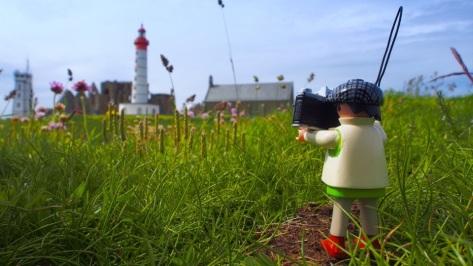 Leuchtturm an der bretonischen Atlantikküste