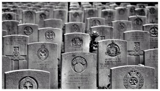 Britischer Soldatenfriedhof in der Normandie
