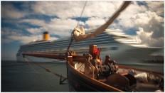 Kreuzfahrtschiff läuft ein