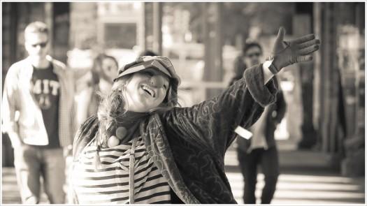 Videodreh der Sängerin Raffete auf der Oberbaumbrücke - Foto: h|b