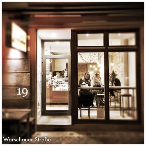 """Das Cafe """"Milch und Zucker"""" in der Warschauer Straße"""