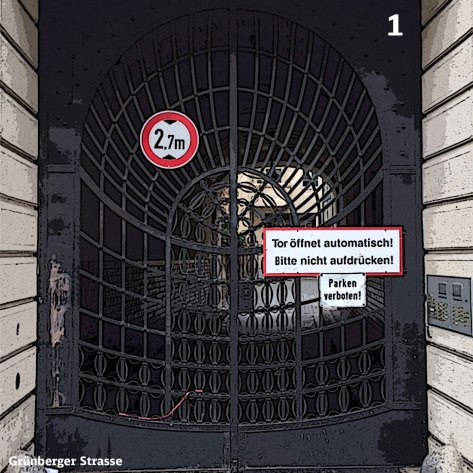Heute Türchen Nummer 1 - Das Tor zum Hof - Foto: h|b