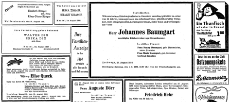 Meine Geburtstagsanzeige - Archiv HNA (Dank an Stefan Umbach)