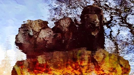 Drei Mufflons