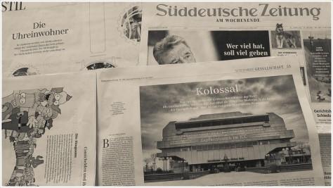 Mein Bild in der Wochenendausgabe der Süddeutschen - Foto: h|b