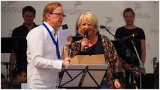 Olle Lippert und Kock am Brink auf der Bühne - Foto: h b