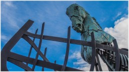 Bronzepferd in Schiffskörper - Foto: h|b [Olympus OM-D E-M5, 12-40/2.8 Pro, 15mm / f.5,6 / ISO 200]
