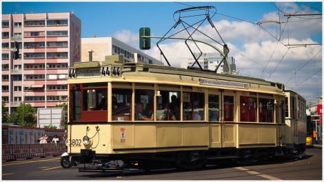 Historische Straßenbahn in Berlin