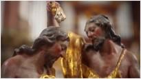 Zwei Figuren im Kloster Neuzelle