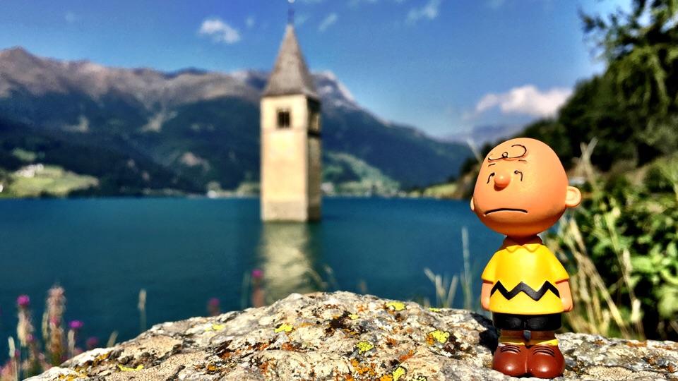 Kirchturm im Reschensee/Italien