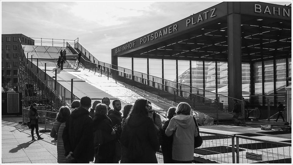Rodelbahn am Potsdamer Platz