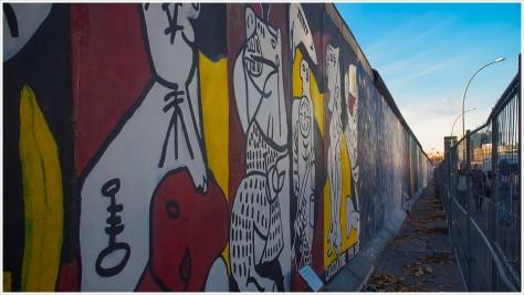 Eingezäunte East Side Gallery
