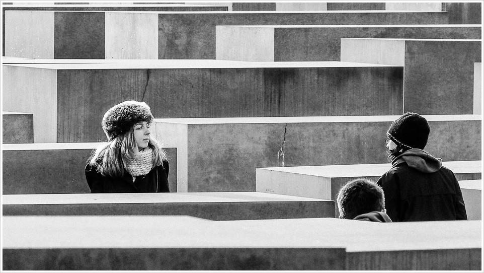 Streetfoto vom Holocaust Mahnmal Berlin