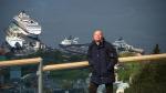 Blick vom Hausberg in Bergen auf die MS Century - Foto: h|b