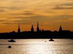 Kulisse von Stockholm im Abendlicht - Foto: h|b