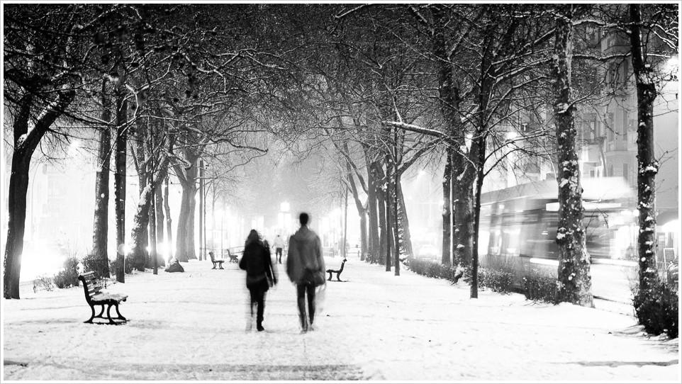 Schneepiste in Friedrichshain - Foto: h|b