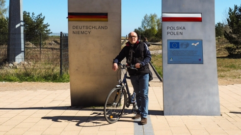 Deutsch/Polnische Grenze auf Usedom