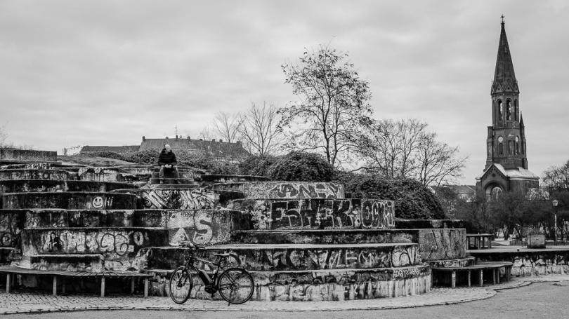 Reste des Pamukkale Brunnen im Görlitzer Park