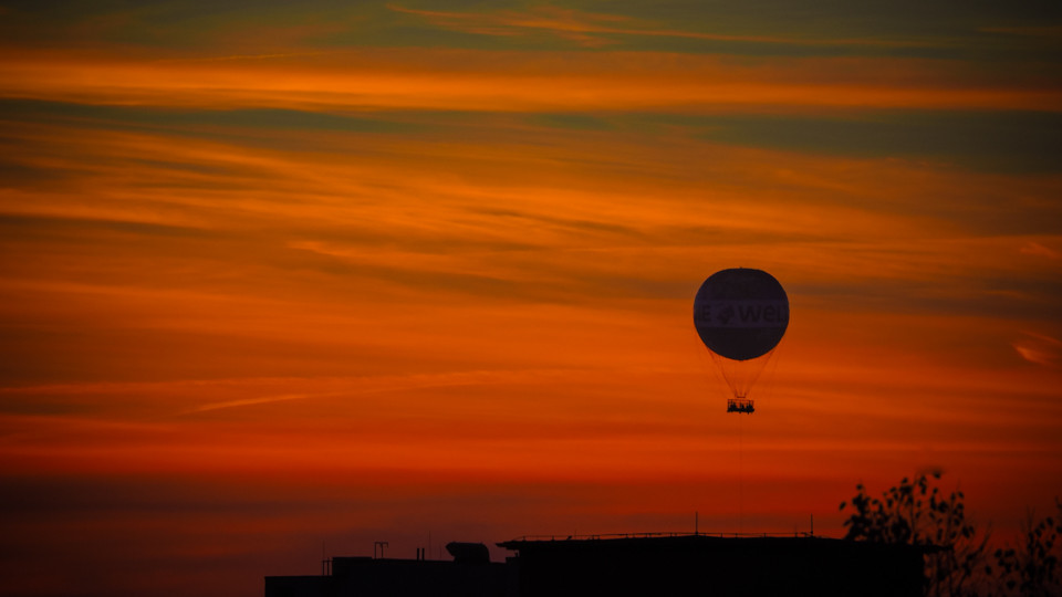 Ballon im Sonnenuntergang