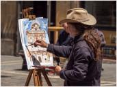 Maler in Pamplona