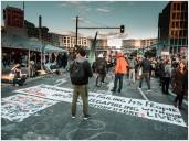Buntes Treiben am Potsdamer Platz