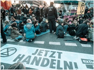 Blockade am Potsdamer Platz