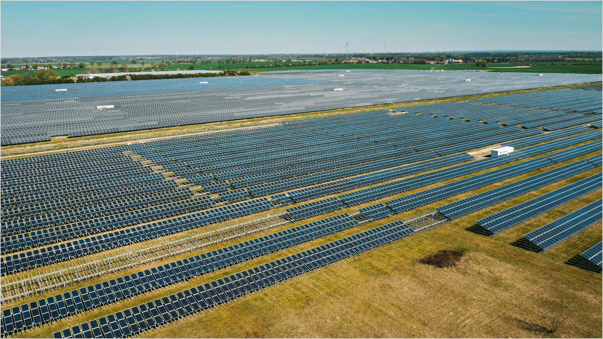 Blick auf den Solarpark Eiche