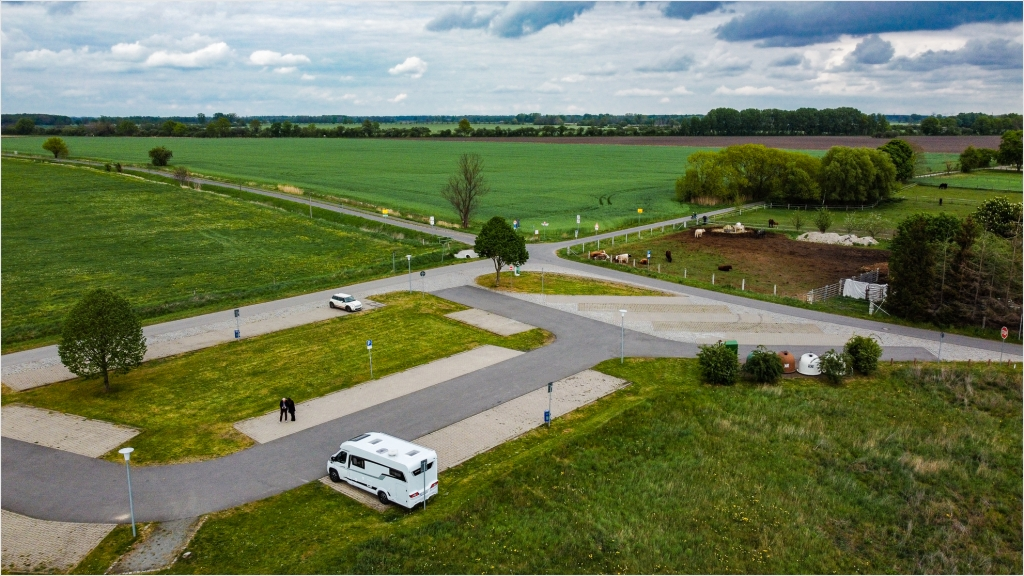 Der Stellplatz in Ribbeck im Havelland