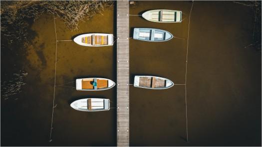 Bootsanleger aus der Luft