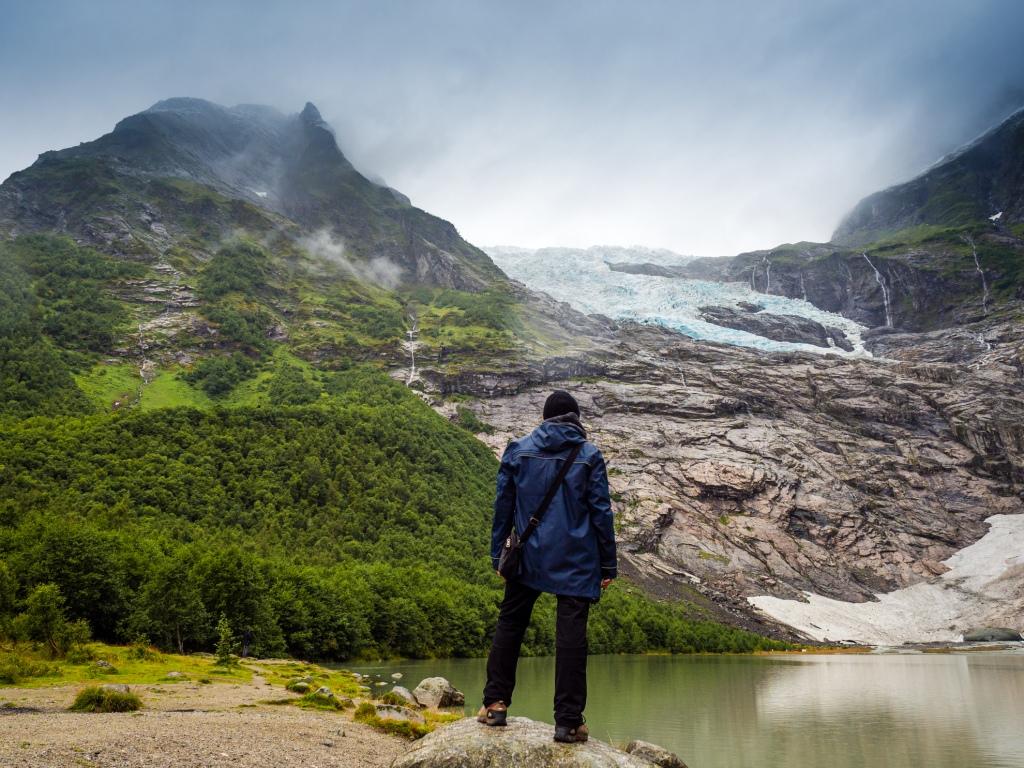 Blick auf den Bøyabreen in Norwegen