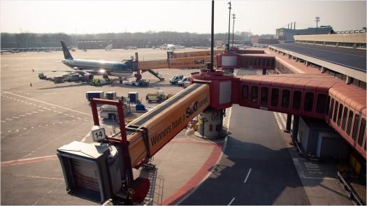 Fluggastbrücken am Flughafen Tegel