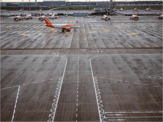 Vorfeld des Flughafens BER