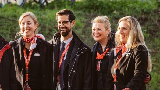 Air Berlin Crew am Flughafen Tegel