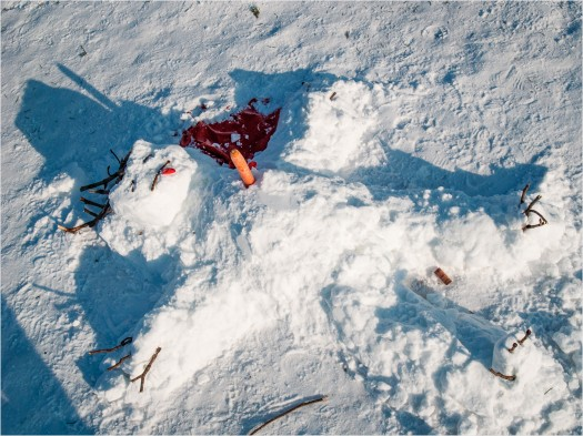 Toter Schneemann